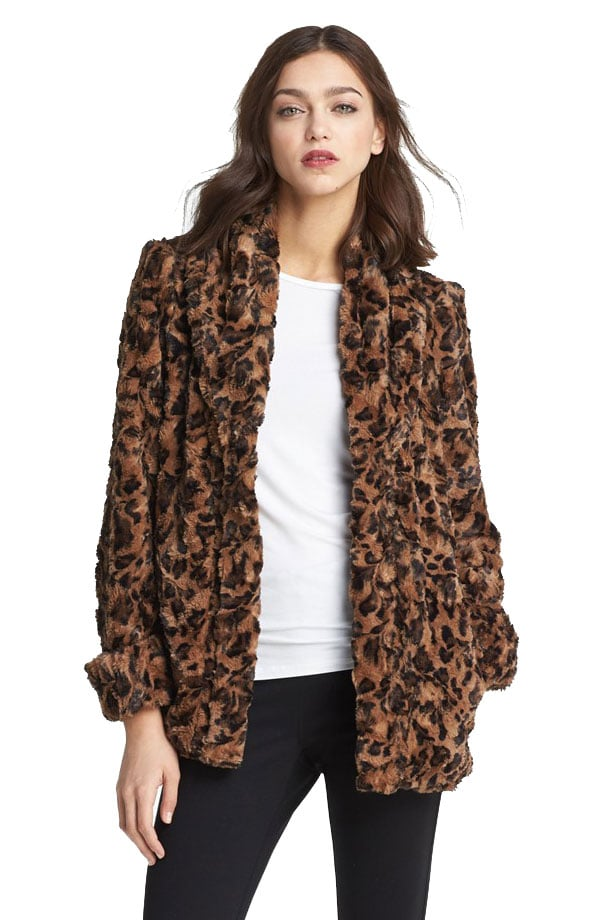 Can't you imagine yourself looking chic in Alice + Olivia's printed faux fur jacket ($239, originally $395) come Fall?