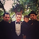 Sparrow Madden joined his dad, Joel Madden, his uncles Josh and Benjamin for a real Madden boys photo. Source: Instagram user joelmadden