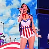 Katy got patriotic for a children's inaugural concert at the Washington DC Convention Center in January 2013.