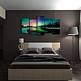 Aurora Scenery Painting on Canvas