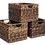Living Room: Woven Storage Shelf Organizer Baskets With Handles