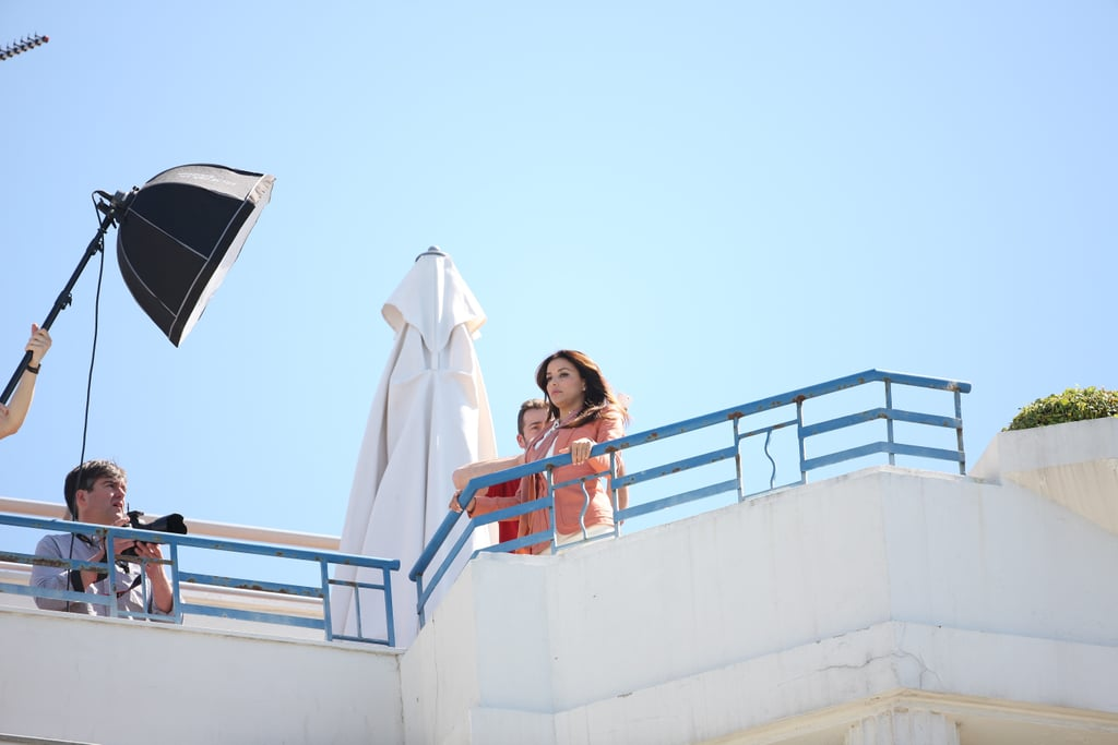 Eva Longoria had a photo shoot on the rooftop of a hotel at the Cannes Film Festival.