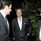 John Krasinski chatted with Colin Firth and Gary Oldman.