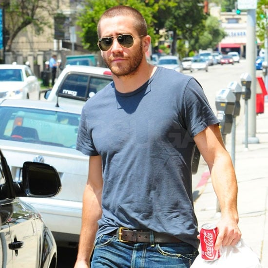 Jake Gyllenhaal Is a Classic Stud With a Sexy Shaved Head in LA