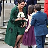Little Girl Curtsying to Meghan Markle Video March 2019