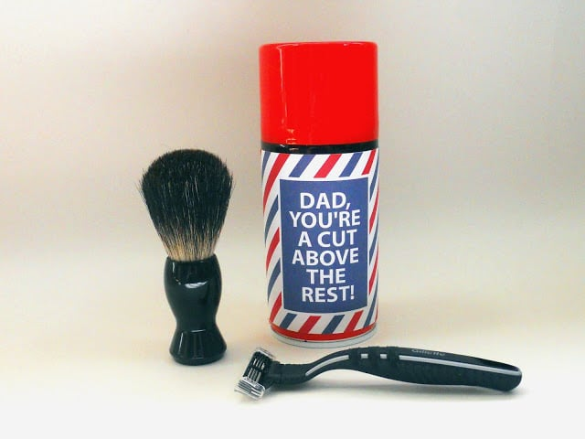 Father's Day Shaving Kit Label