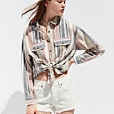 UO Cassidy Cotton Button-Down Shirt