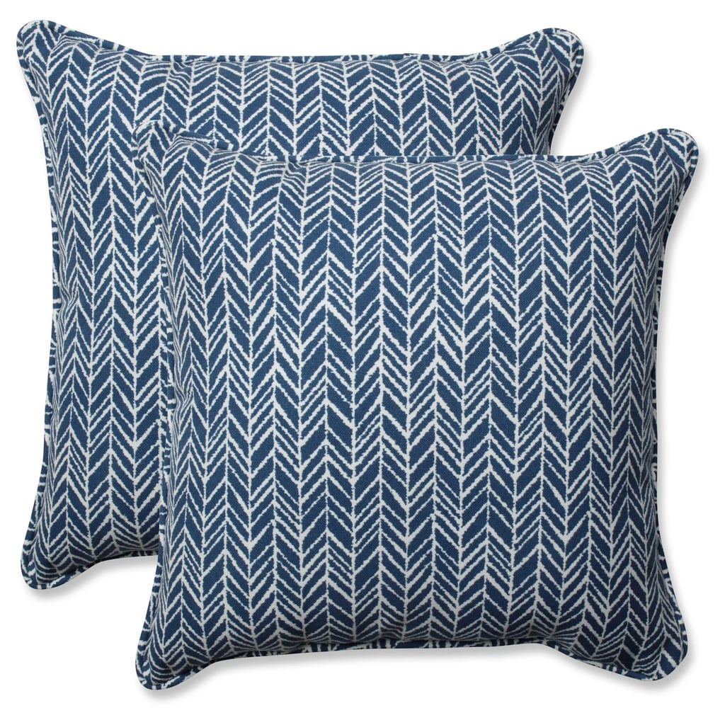 Outdoor/Indoor Herringbone Throw Pillow