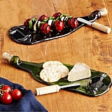 Recycled Wine Bottle Platter With Spreader