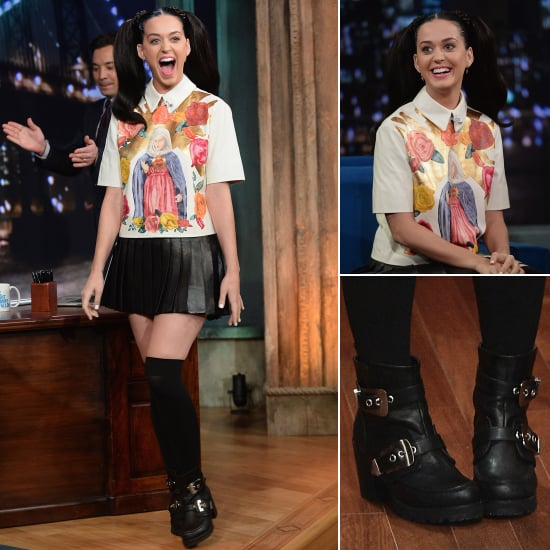 Katy Perry's '90s Fashion Look on Jimmy Fallon