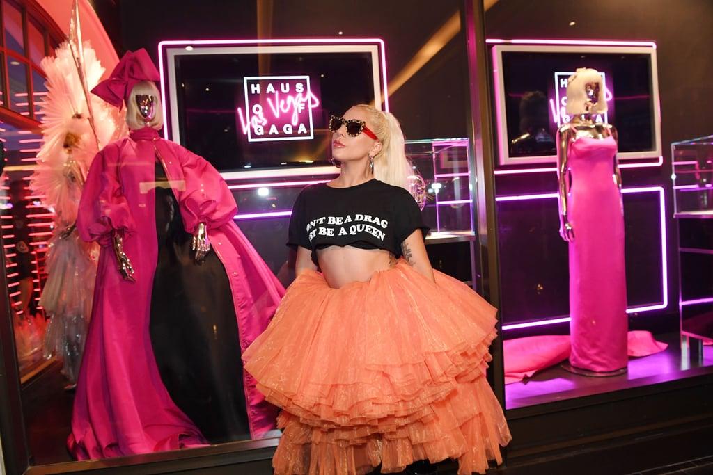 Lady Gaga's Outfit Haus of Gaga Exhibit Opening May 2019