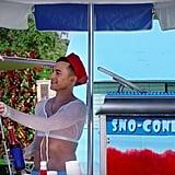 Adam Rippon Selling Sno-Cones