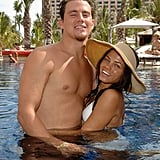 Channing and Jenna took a dip while celebrating the July 2007 opening of Cain at the Cove Atlantis.