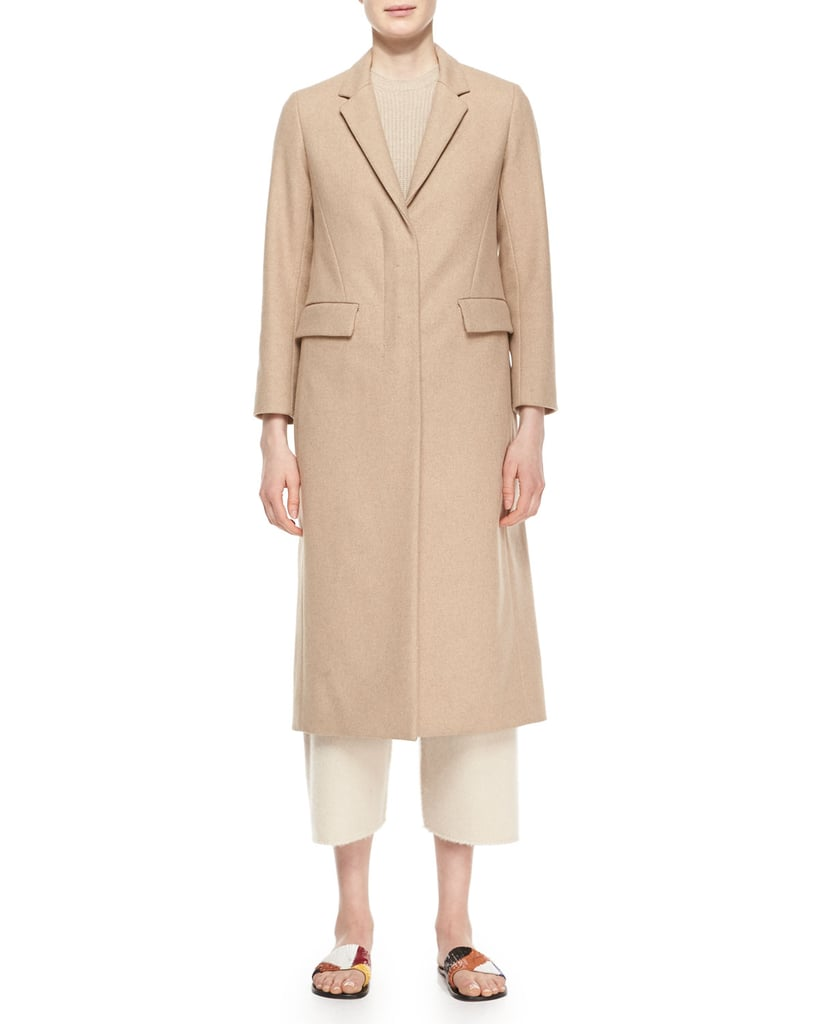 The Row Classic Fitted Zip Long Coat ($2,450)