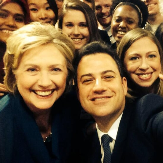 Jimmy Kimmel Takes Selfie With Bill and Hillary Clinton