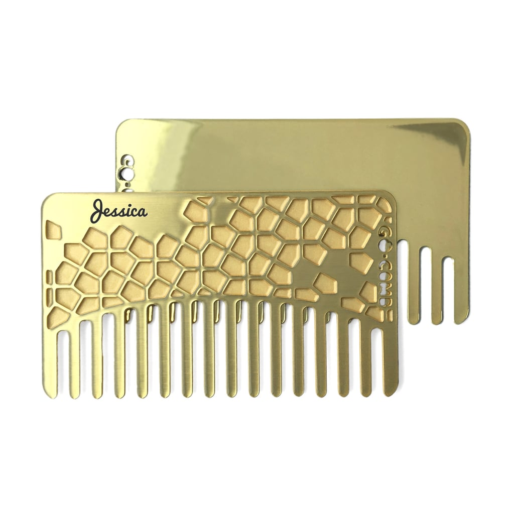 Go-Comb Personalized Brass Tile Mirror