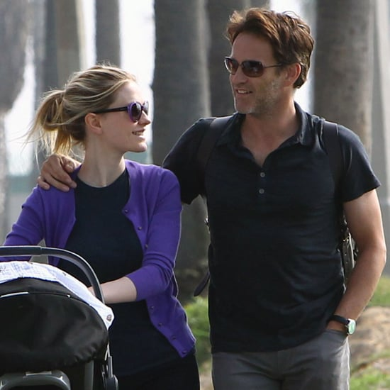 Anna Paquin and Stephen Moyer Walking With Twins