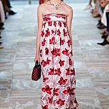 She's also worn many a strapless maxi, and we think she'd love the bold florals on this Spring number from Tory. Tory Burch Spring 2017.
