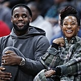 See LeBron James Cheer For Son Bronny at Sierra Canyon Game