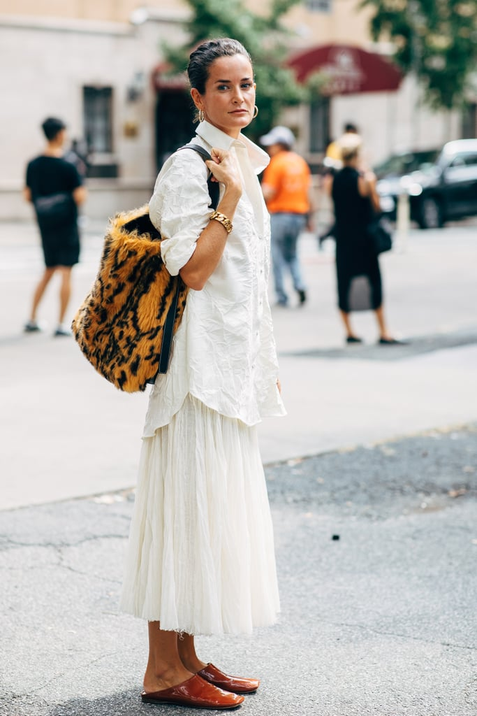 Pair white on white separates for a breezy look.