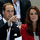 Prince William pointed something out to Kate.