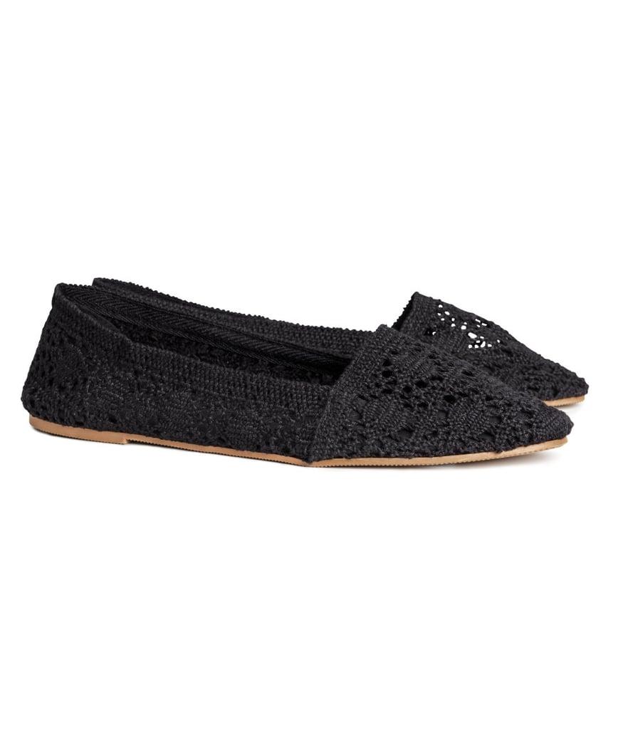 H&M black crochet flats ($15)
