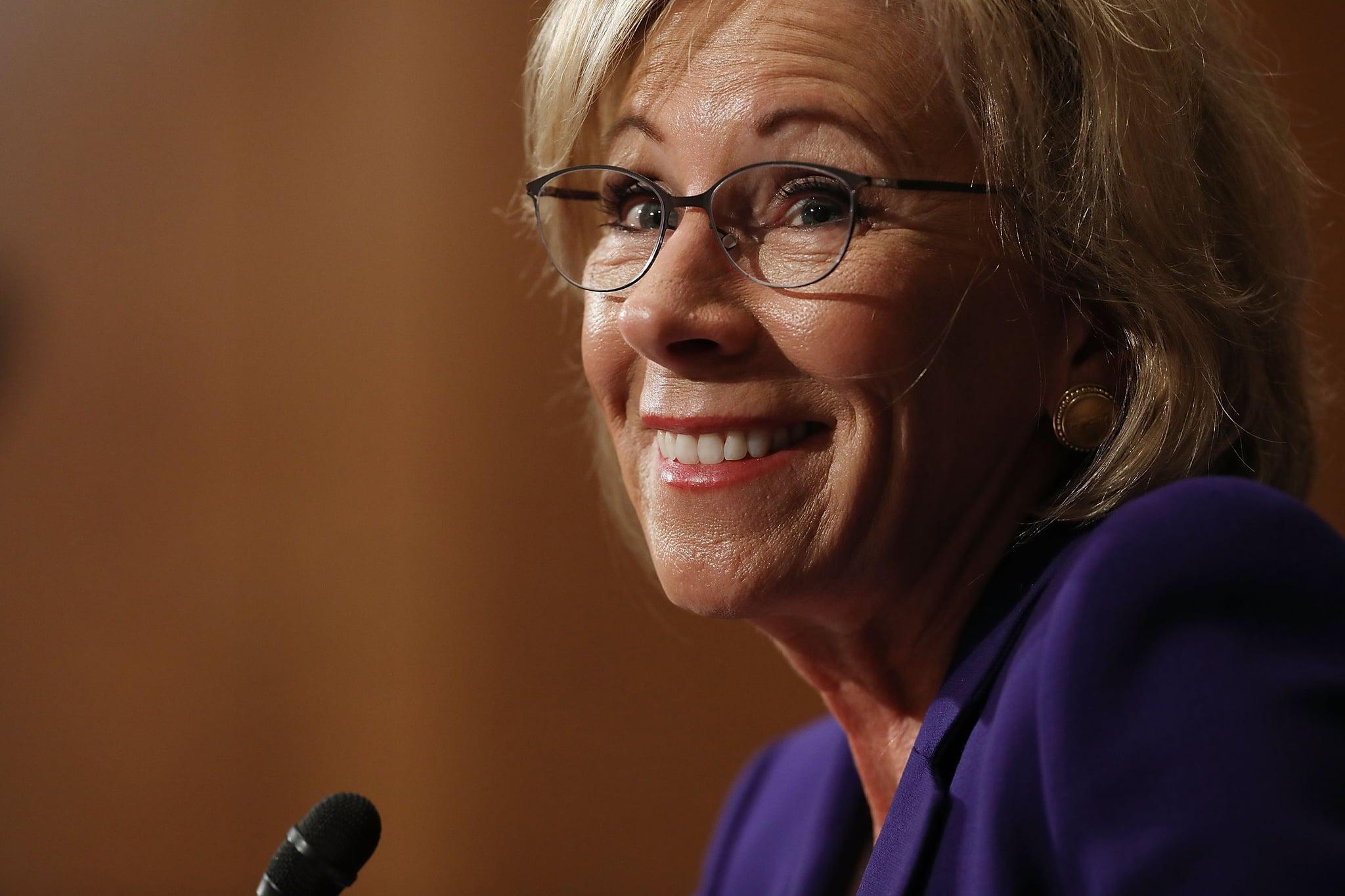Betsy DeVos Donates to Republican Senators | POPSUGAR News