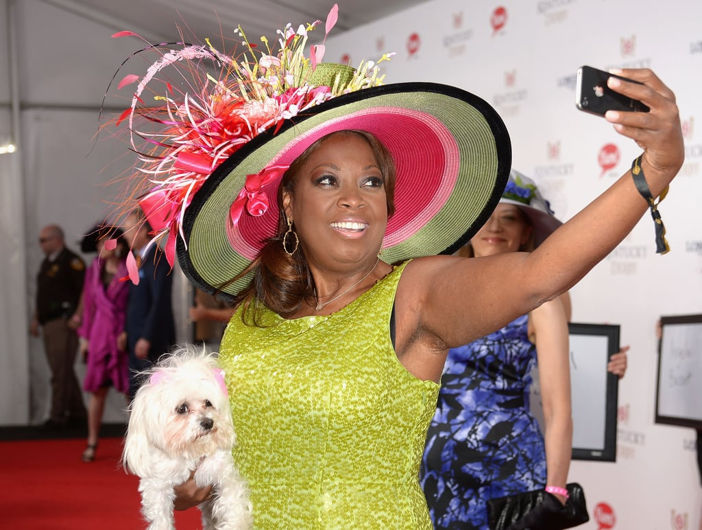 Star Jones took a selfie with her dog at the 2014 races.