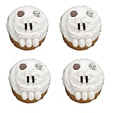 Toothy Skull Cupcakes