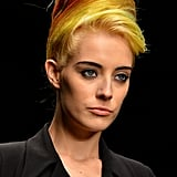 Chloe Norgaard's famous multicoloured hair lent itself perfectly to the '80s-meets-'60s beehives at the Autumn/Winter 2013 PPQ show.