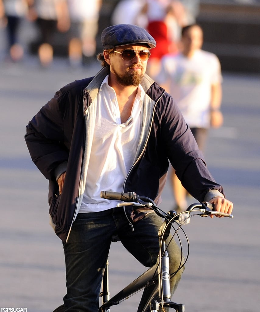 Leonardo DiCaprio enjoyed an afternoon of biking in NYC.