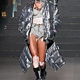 Winnie Harlow Shined in a Silver Ensemble
