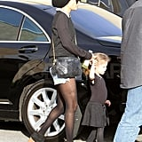 Nicole Richie with Harlow Madden at ballet class.