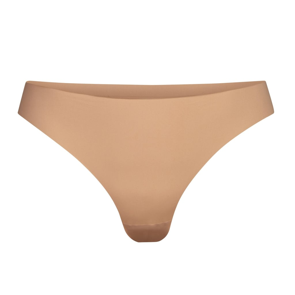 Skims Smooth Essentials Dipped Thong - Ochre