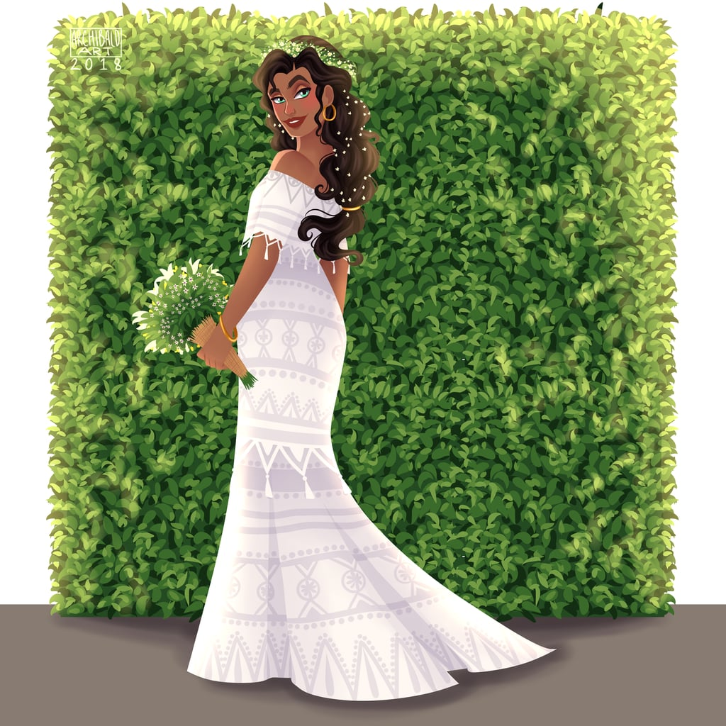 Esmerelda's Wedding Dress Is Gorge, but Let's Talk About the Flowers in Her Hair