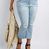 Charlotte Russe Refuge Destroyed Flare Jeans