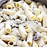 Creamy Rigatoni With Garlic, Mushrooms, and Chicken