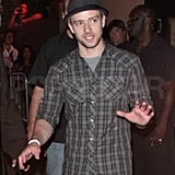 Justin Timberlake celebrates after his NYC show.