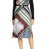 Tory Burch Silk Front Long-Sleeve Shirtdress