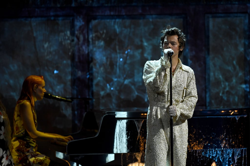 "We've got to be honest with you, we thought that by February, our obsession with Harry Styles and his 2019 album Fine Line would have dimmed to a seven. But after watching his BRIT Awards performance on Tuesday, it's now alarmingly clear that our love of Styles is raging at a high 10. Taking to the stage dressed in an all-white lace ensemble, he launched straight into a heartfelt performance of ""Falling,"" and honestly, we're still coming down from the serenade. Check out Styles's full solo performance above."