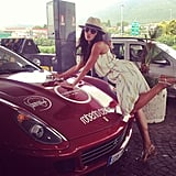 Selita Ebanks made one stylish car washer. Source: Instagram user selitaebanks