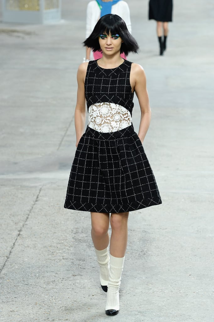 She later wrapped up her Paris Fashion Week at the Chanel Spring 2014 show.