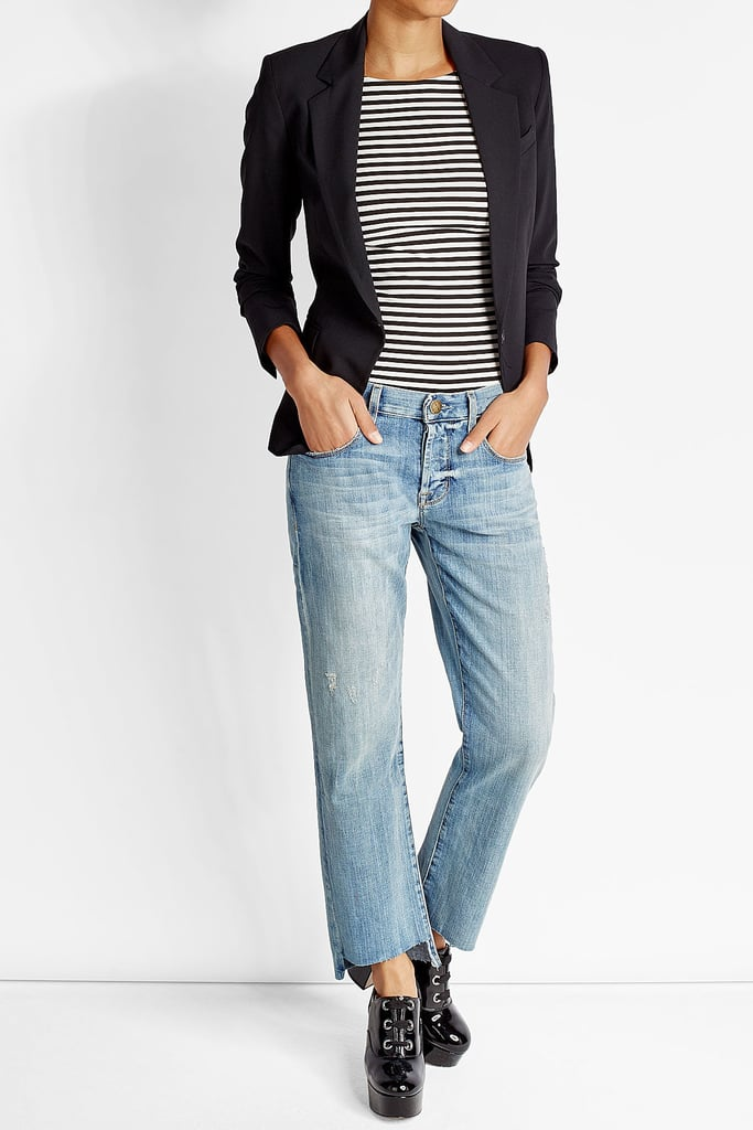 4cdb8f008b Dress up your Current Elliott staggered jeans ( 339) with a blazer ...