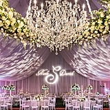 Fabric draping and creative lighting transform this ballroom from ordinary to extraordinary.