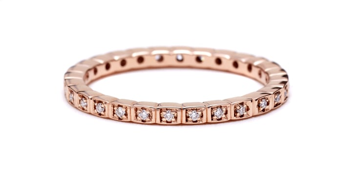 Anna Sheffield Rose Gold Wedding Ring