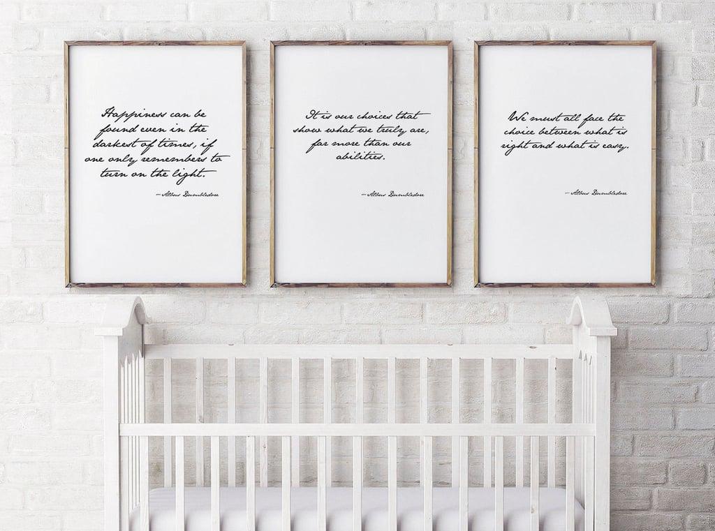 Dumbledore Quote Prints