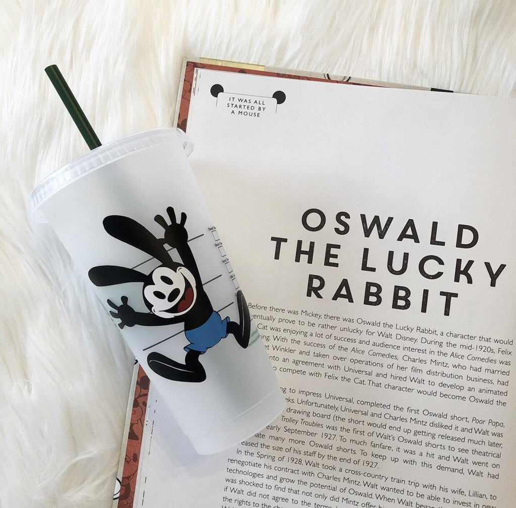 Oswald the Lucky Rabbit Personalized Iced Coffee Cup