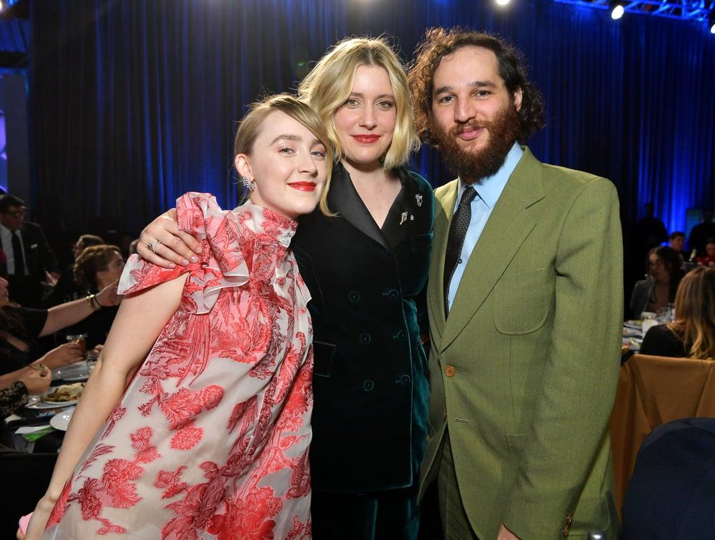 Saoirse Ronan, Greta Gerwig, and Josh Safdie at the 2020 Critics' Choice Awards