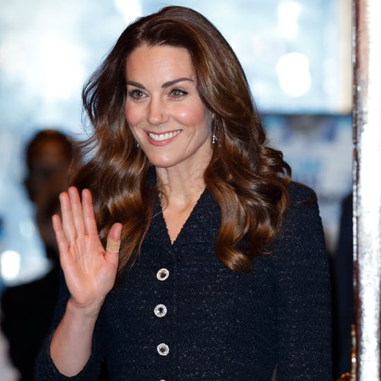 Kate Middleton's Black Dress and Jimmy Choo Glitter Shoes