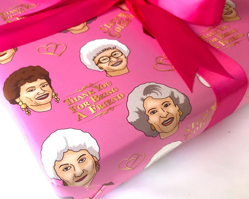 This Golden Girls Wrapping Paper Features All 4 Icons